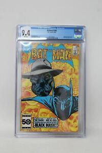 DC-COMICS-Batman-386-Origin-1st-App-Black-Mask-CGC-9-4-DC-1985-White-Pages