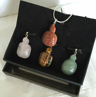 """Qvc Silver Plated Interchangeable Pendants And Necklace Set 18"""" Long Chain"""