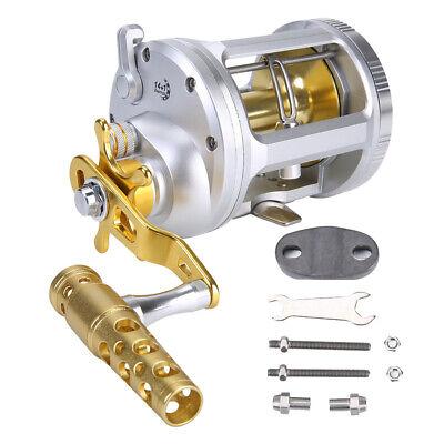 Round Baitcasting Trolling Fishing Reel 5.2:1//6.3:1 Gear Ratio Casting Reel