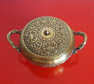 Antica-Zuccheriera-in-Argento-Silver-Plate-Placcato-Oro