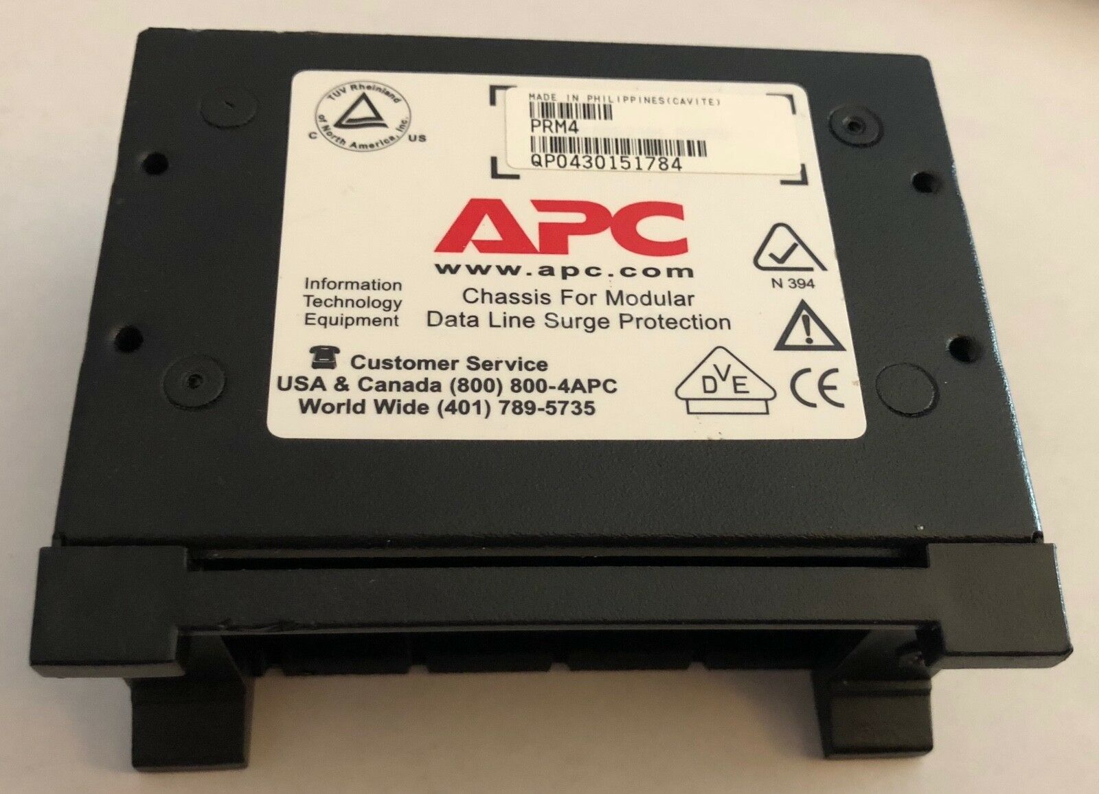 APC BY SCHNEIDER ELECTRIC PRM4 4 POSITION CHASSIS 1U FOR REPLACEABLE DATA L...