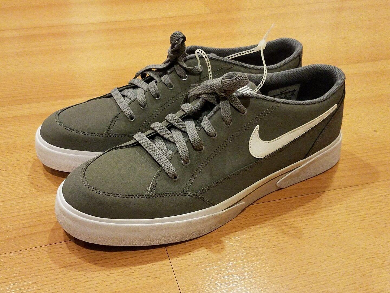 Nike gts 16 nabuk scarpe scarpe grey white gomma brown 844809-012 uomini sz 11