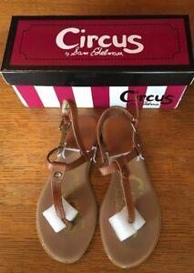 50f83e14b NEW Circus by Sam Edelman Cayden Girls Thong Sandals Camel Brown Tan ...