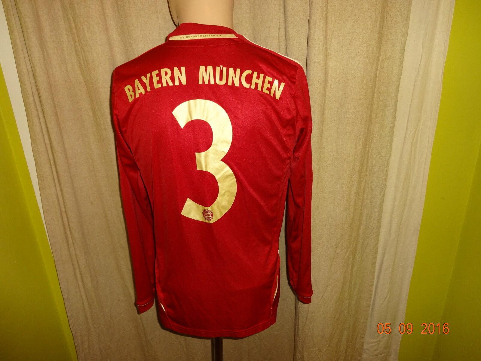 FC Bayern München Adidas Adidas Adidas Langarm Junioren Matchworn Trikot 12 13 + Nr.3 Gr.S- M  | Verschiedene Arten und Stile  a35e75