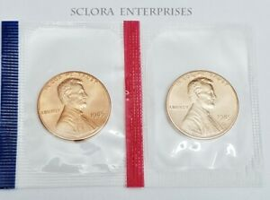 Penny Set  *LARGE DATE*  *MINT CELLO*  *FREE SHIPPING* 1960 P /& D Lincoln Cent