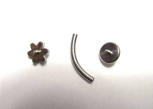 Details about  /Iridescent Gem Flower Vertical Clitoral Clit Hood VCH Bar Genital 14 gauge 14g