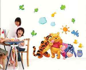 Winnie-The-Pooh-Wall-Decals-Kids-Bedroom-Baby-Nursery-Stickers-Art-Decor-Room-L