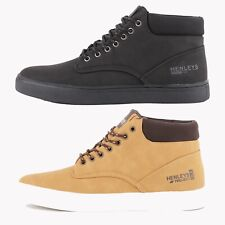 Mens Henleys Euston Mid Top Boots in Black or Tan - (FCF2)