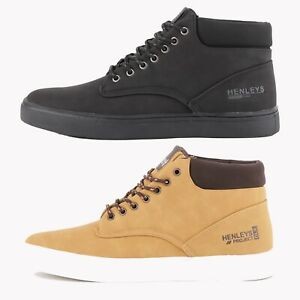 Mens-Henleys-Euston-Mid-Top-Boots-in-Black-or-Tan-FCF2-RRP-44-99