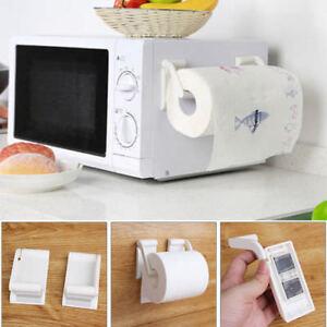 Plastic-Magnetic-Paper-Towel-Roll-Holder-Towel-Rack-Dispenser-Kitchen-Bathroom