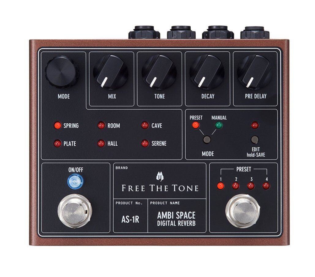 Free the Tone AS-1R AMBI SPACE DIGITAL REVERB  FREE EMS SHIPPING