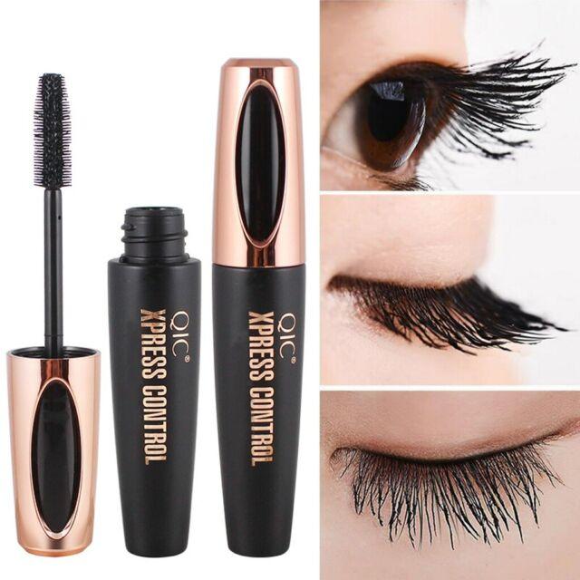 Black 4D Silk Fiber Eyelash Mascara Extension Makeup Waterproof Eye Lashes Kit