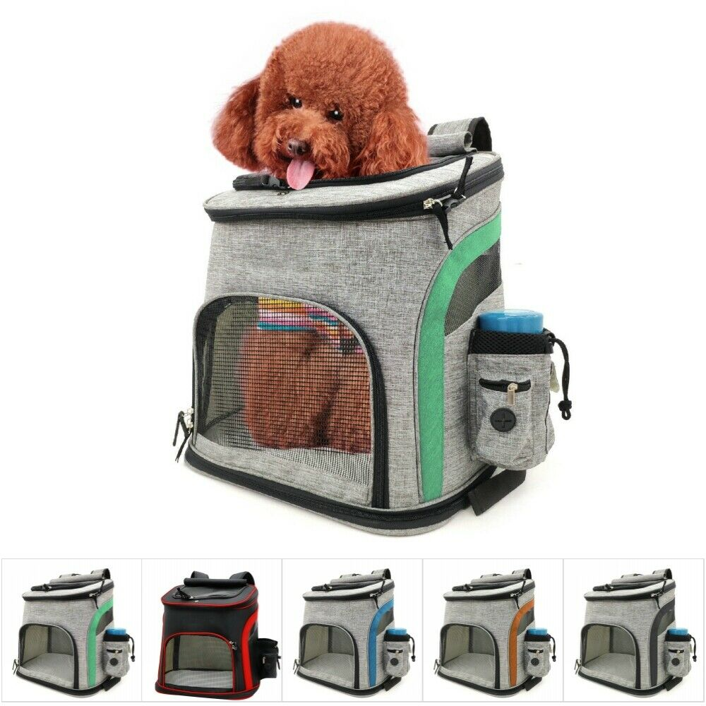 Mesh Dog Bag Breathable Dog Backpack Large Capacity Cat Carrying Bag Pet Carrier