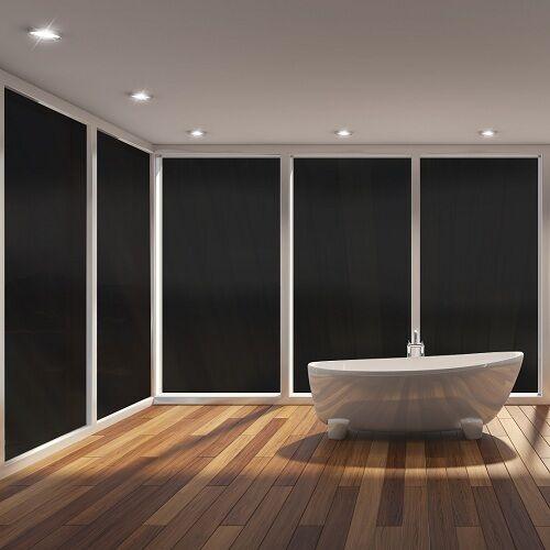 Fenster Verdunklungs Folie Sichtschutzfolie  4m x 76cm Schwarz 100/% Blickdicht