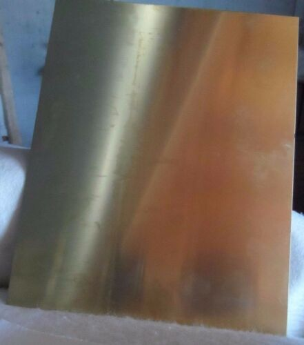 0.6 mm Soft Brass Sheet 240 x 300 x 0.6 mm A4 Size Quality Made FREE POST