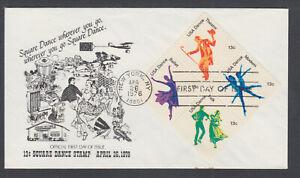 US-Pl-1749-1752-N-FDC-1978-13c-American-Dance-se-tenant-block-RHS-First-Cachet