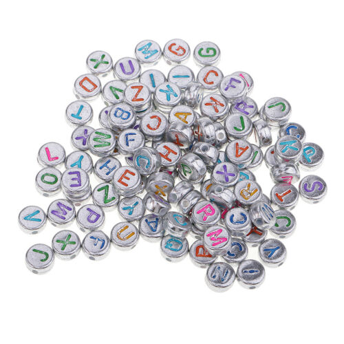 100 Stücke Alphabet Perlen Würfelperlen Buchstaben Perlen Bastelperlen