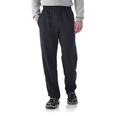 Fruit of the Loom Men/'s Black Fleece Elastic Bottom Sweat Pants Size 28-30 Small