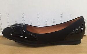 GEOX Damens Schuhe Damens GEOX BALLERINE IN CAMOSCIO E VERNICE NERO, LINEA ... 4d8983