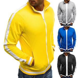 Das Bild wird geladen OZONEE-7542-Herren-Sweatshirt-Sportjacke-Sweatjacke -Langarmshirt-Classic- 768cd15b6f