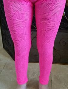 NEW-GIRLS-P-S-Aeropostale-LACE-FOOTLESS-TIGHTS-Size-S-M-PINK-NEW-Stars