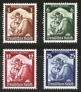 DR-Nazi-3rd-Reich-Rare-WW2-Stamp-Hitler-Saar-Mother-Child-Propaganda-Plebiscite