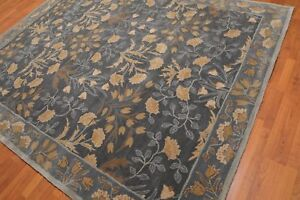Old-Hand-Made-Blue-Floral-Nain-Parsian-Style-Traditional-Oriental-Wool-Area-Rug