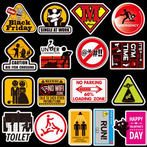 DIY Warning Stickers Waterproof Decal Sticker Bomb To Laptop Skateboard Luggage