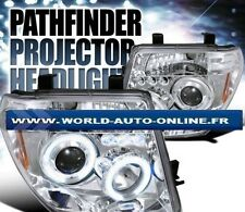 PHARES ANGEL EYES CHROME LED NISSAN FRONTIER 2005 - 2008 -PATHFINDER 2005 - 2007