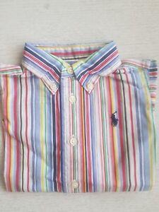Boy's Ralph Lauren à Manches Longues Multicolore Rayé Shirts Brand New Genuine-afficher Le Titre D'origine Calcul Minutieux Et BudgéTisation Stricte