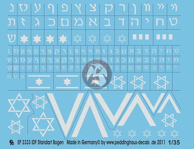 Peddinghaus 2333 1//35 IDF Standart Bogen