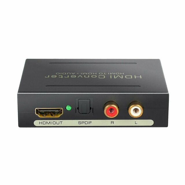 HDMI Audio Extractor Splitter to SPDIF Optical RCA Stereo L / R Analog Converter