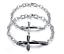 Bracciale-Coppia-Braccialetto-Uomo-Donna-Unisex-Croce-Acciaio-Fidanzati-Paio-Lov miniatura 14