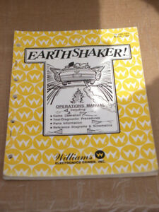 Pinball Earthshaker Original Manual Williams Flipper