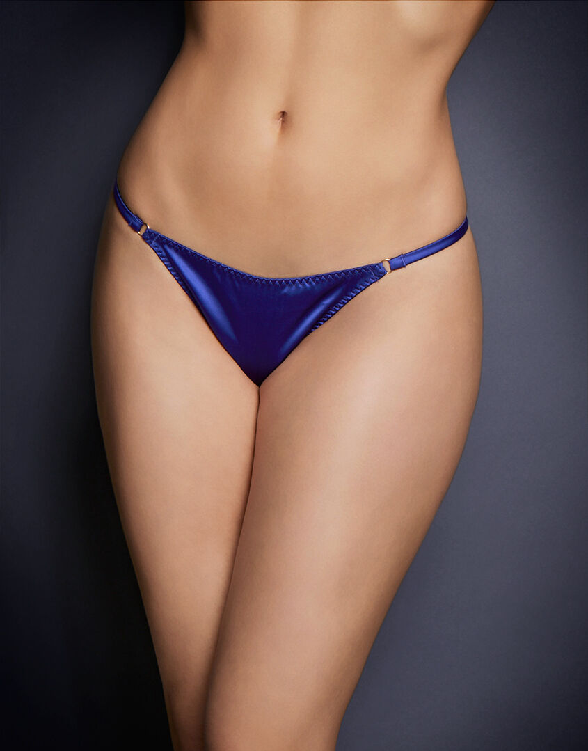 AGENT PROVOCATEUR JANET TRIXIE THONG PURPLE SIZE MEDIUM   AP3   10-12 BNWT