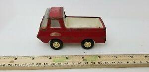 Vintage-1970-039-s-Tonka-Pressed-Steel-Mini-Econoline-Red-Pickup-Truck-4-5-034-USA-MADE