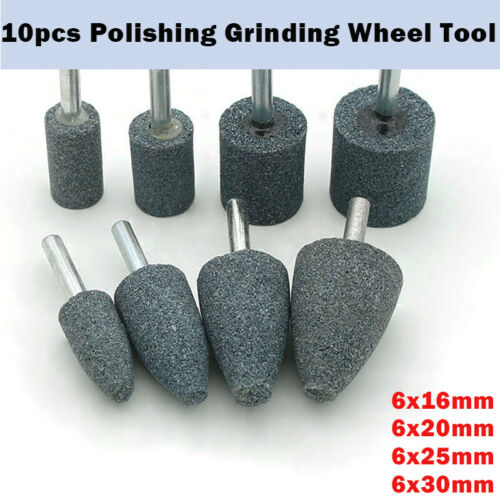 16 20 25 30mm Rotary Grinding Mounted Stone Wheel 6mm Shaft For Drill Grinder