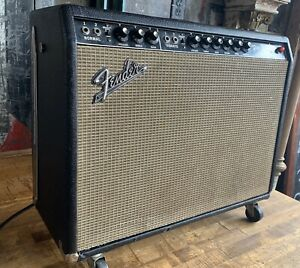 Vintage-1966-Fender-AA-165-Pro-Reverb-Amp-Amplifier-6L6-Tube-Blackface-Guitar