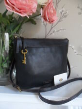 e8eae7ffd Fossil Julia Black Leather Crossbody Shoulder Bag Key Fits iPad mini RRP  £179