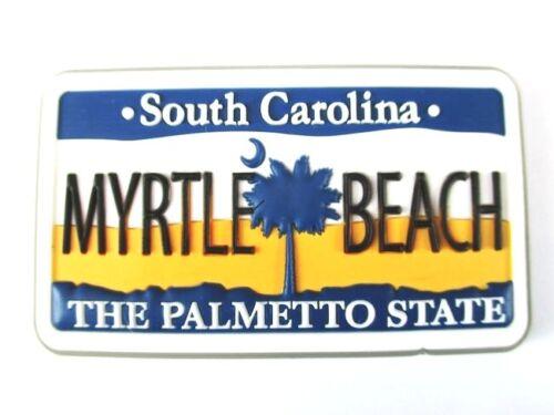 110 Myrtle Beach SOUTH CAROLINA USA souvenir Rubber magnétique Neuf Amérique