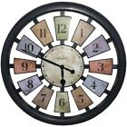 "Westclox 36014 18"" Round Wall Clock See Through Seperated Colored Panels"