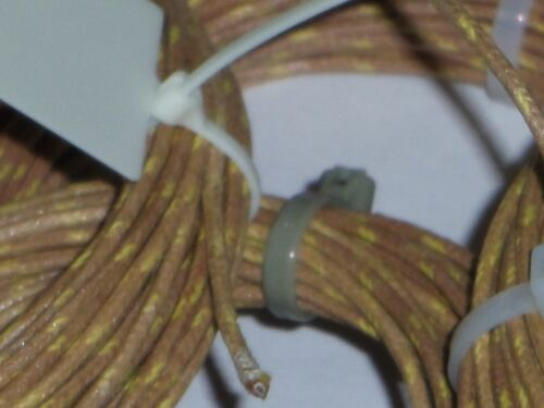 per foot WESTERN ELECTRIC STRANDED  22 ga  CLOTH over PVC//RUBBER over WIRE