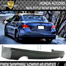 Fits 08 10 Honda Accord Mugen Style Rear Bumper Lip Unpainted Pu Fits 2008 Honda Accord