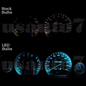 Dash Instrument Cer Gauge Aqua Blue Led Lights Kit Fits 88 92