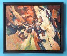 Jacques PONCET (1921-2012) Tableau Huile HST 1959 signée Art Abstrait Brut 52x61