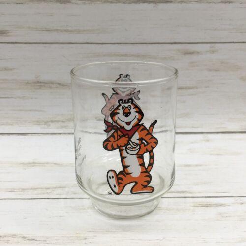 VINTAGE KELLOGG'S 1977 TONY THE TIGER DRINKING GLASS JUICE
