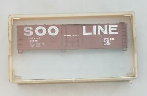 Vintage-HO-Scale-TMI-Train-Miniatures-Soo-Line-Box-Car-Kit-NIB-3216