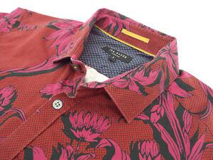 Ted-Baker-Camisa-Para-Hombres-Talla-3-pecho-38-034-RRP-65-129-Estilo-Floral