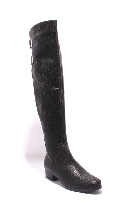 ordina ora i prezzi più bassi Conni 6151 6151 6151 nero Stamped Leather   Shearling Over Knee stivali 38.5   US 8.5  divertiti con uno sconto del 30-50%
