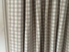 "LAURA Ashley Gingham CHECK scuro Biancheria interlined DOOR Curtain-NUOVO 90 ""Drop"